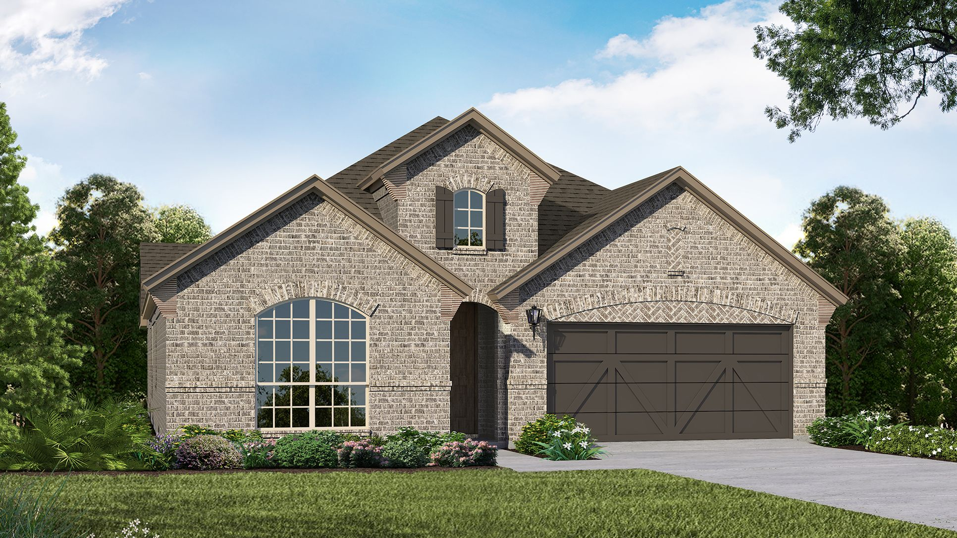 Exterior:Plan 1523 Elevation A by American Legend Homes