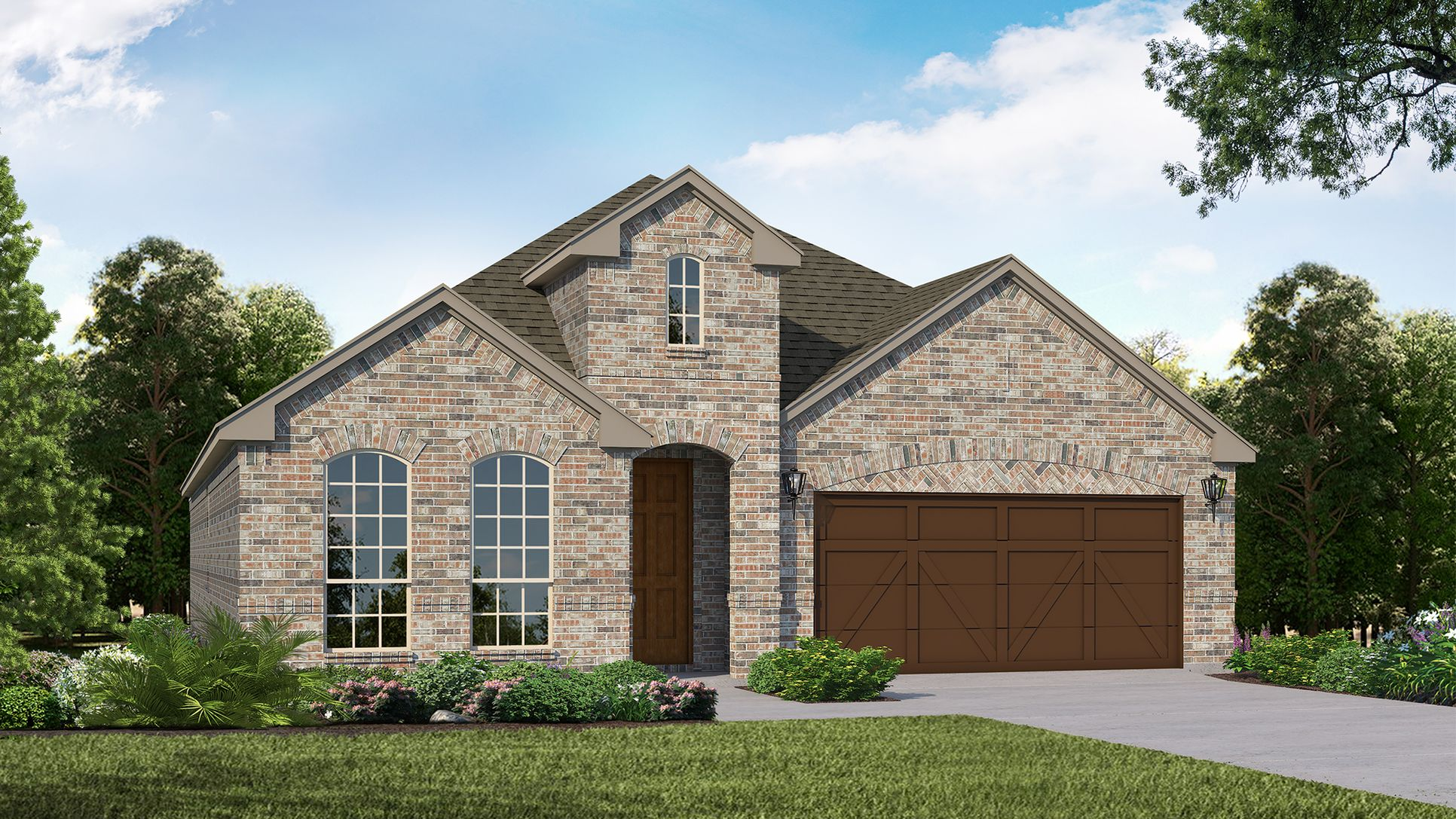 Exterior:Plan 1519 Elevation A by American Legend Homes