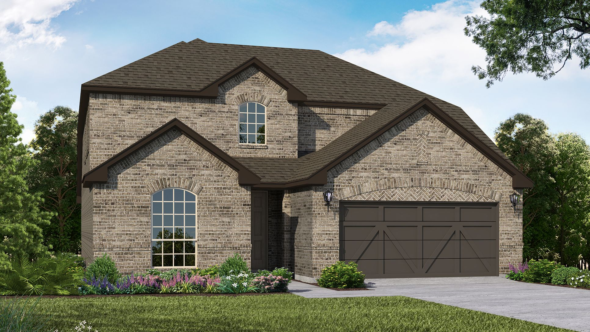 Exterior:Plan 1524 Elevation A by American Legend Homes