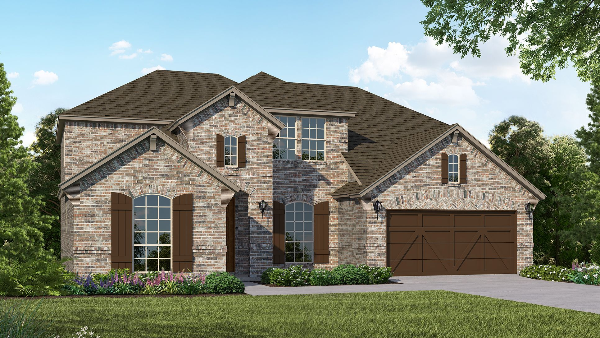 Exterior:Plan 1686 Elevation B by American Legend Homes