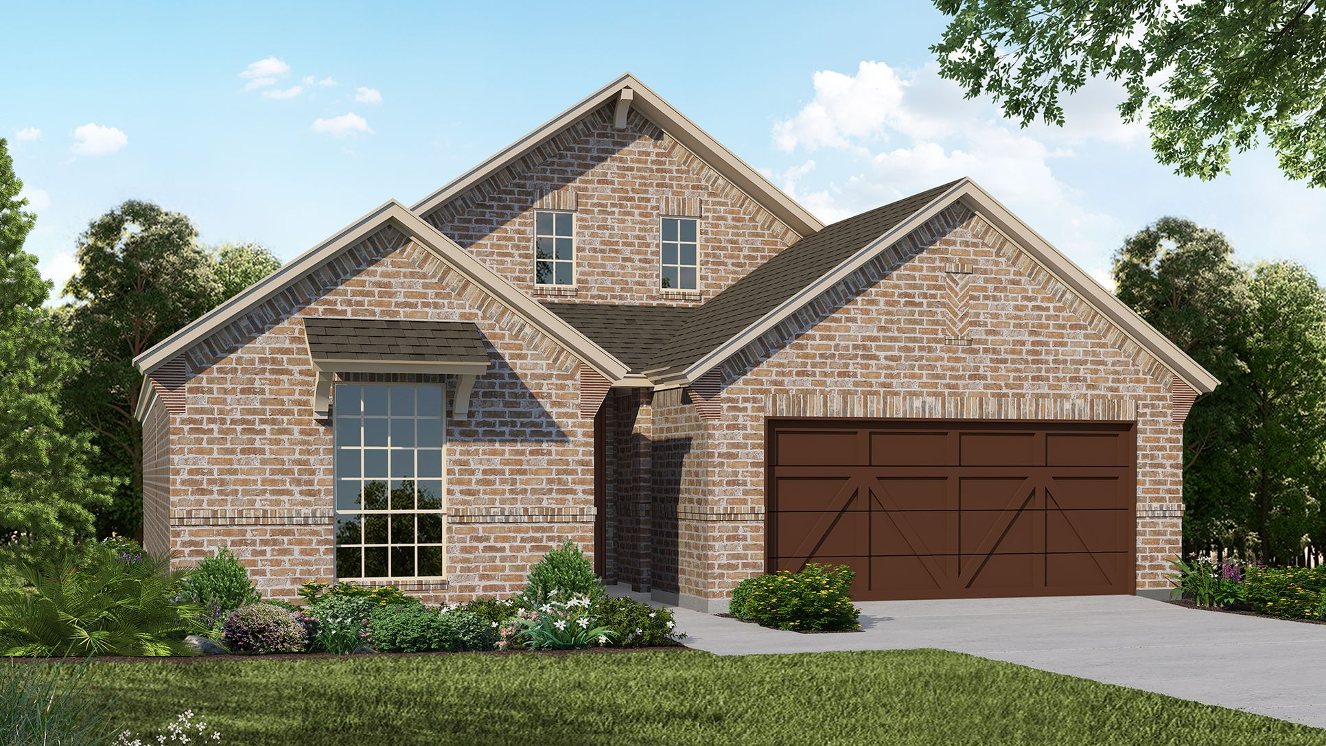 Exterior:Plan 1530 Elevation B by American Legend Homes