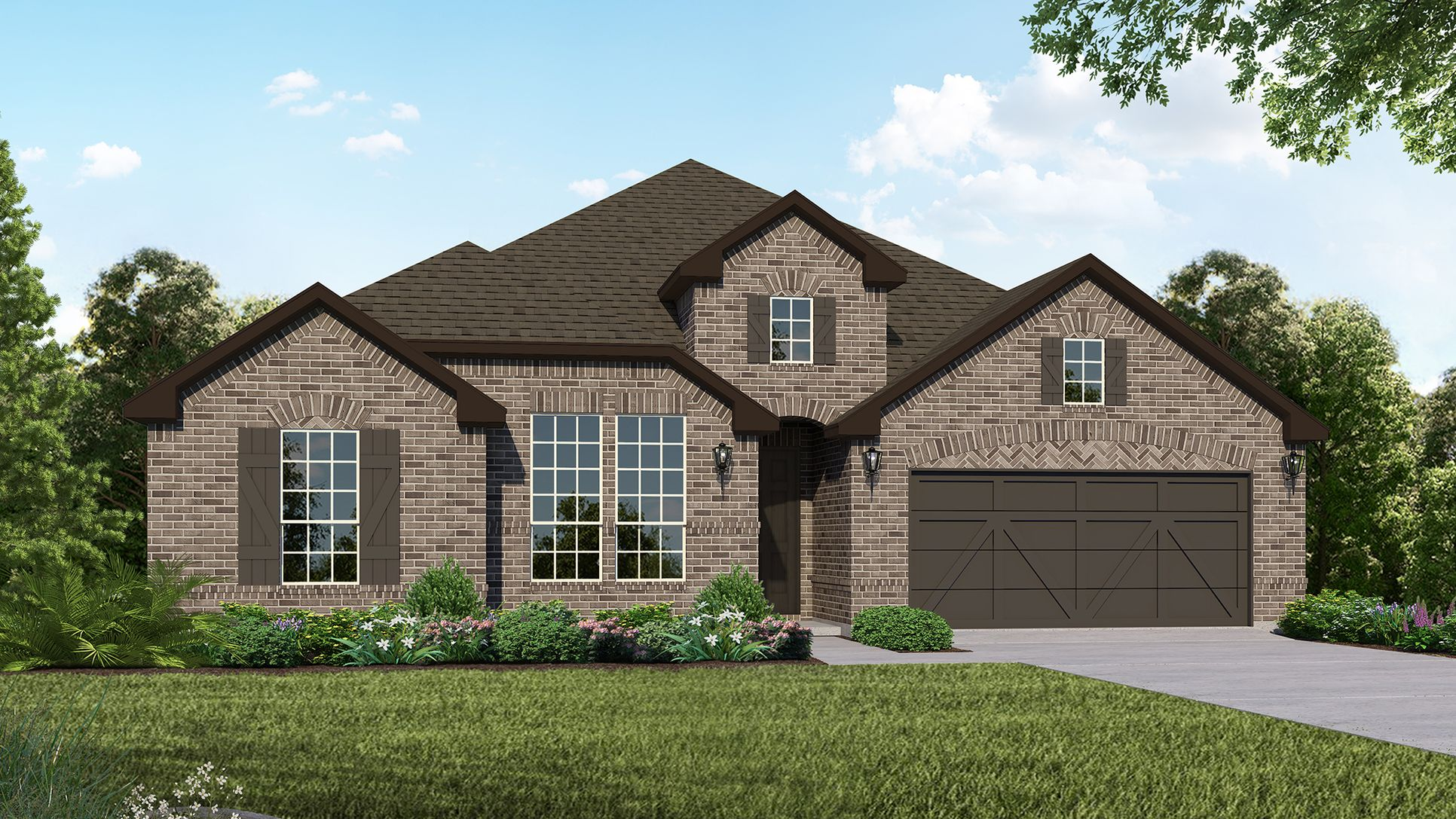 Exterior:Plan 1685 Elevation B by American Legend Homes