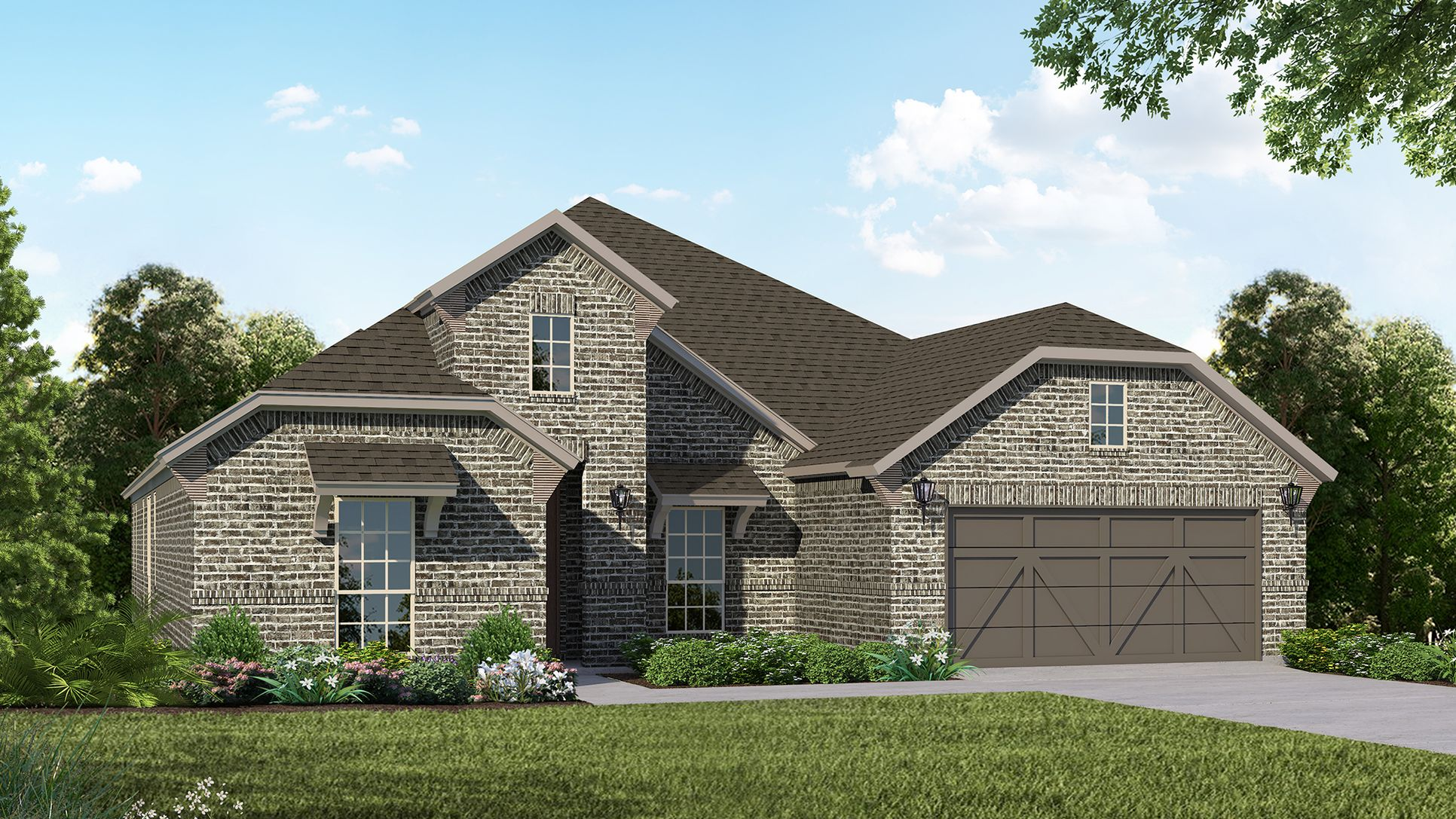Exterior:Plan 1688 Elevation B by American Legend Homes