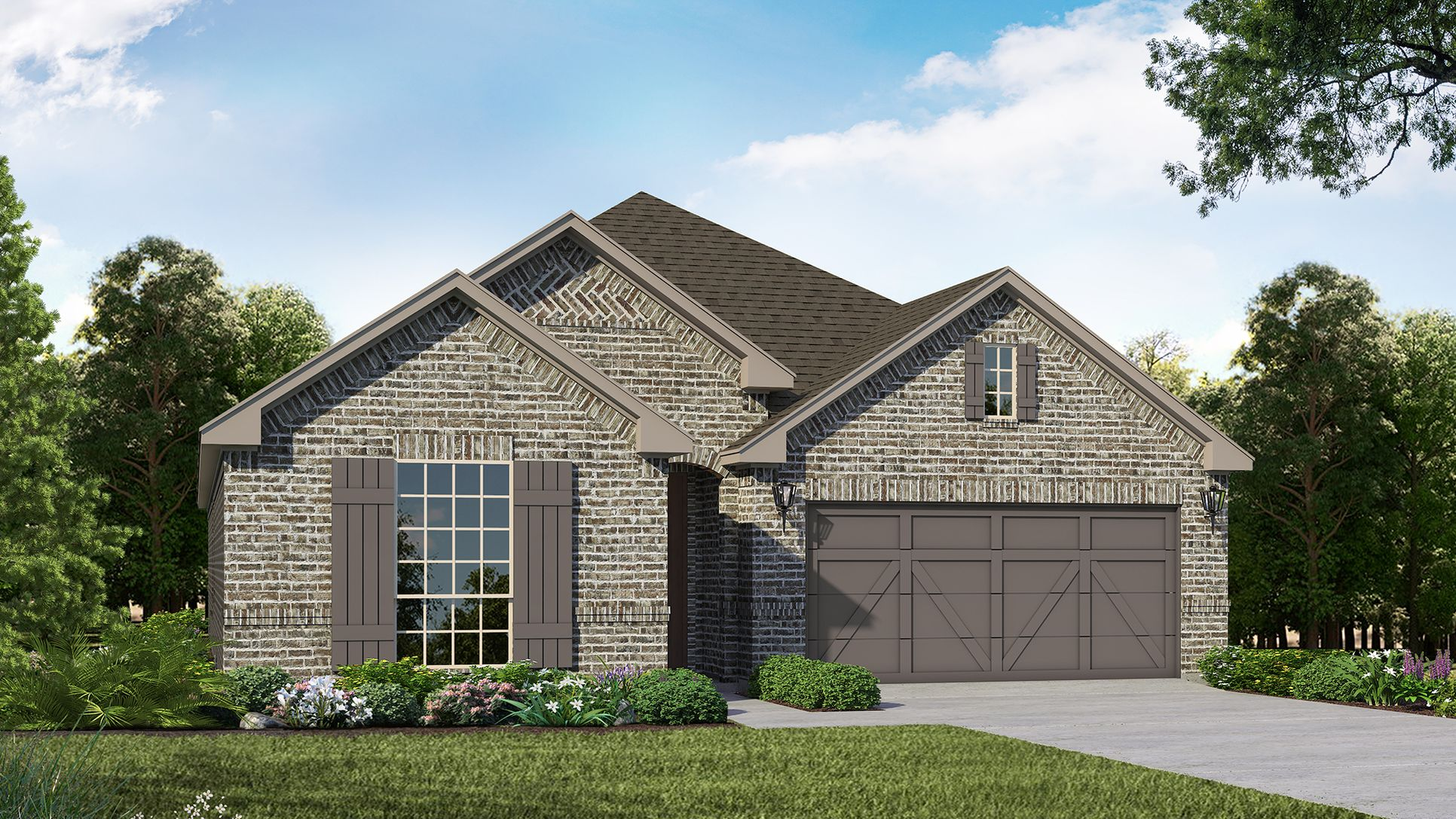 Exterior:Plan 1521 Elevation A by American Legend Homes