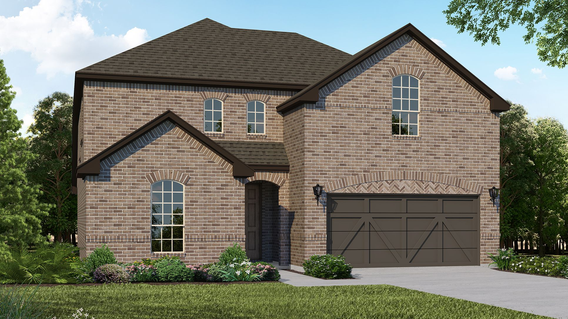 Exterior:Plan 1526 Elevation A by American Legend Homes