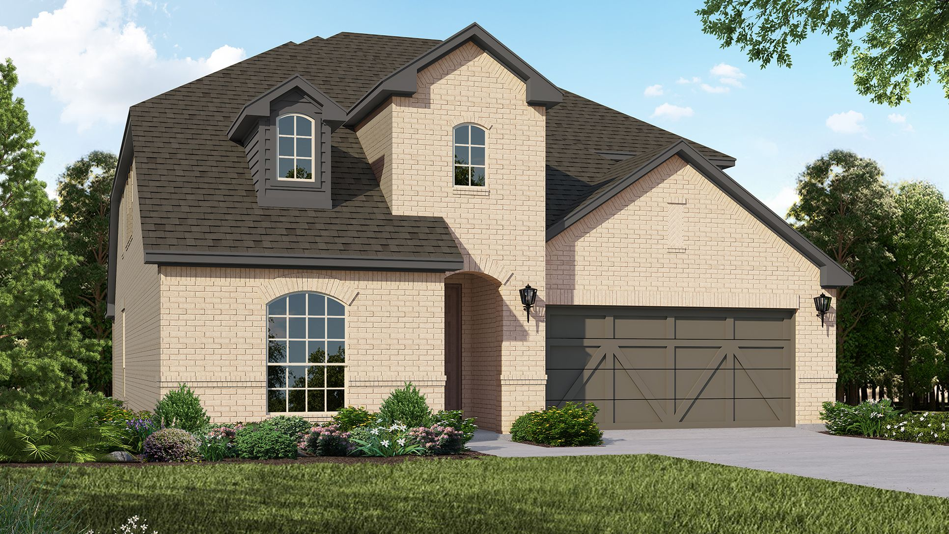 Exterior:Plan 1528 Elevation A by American Legend Homes