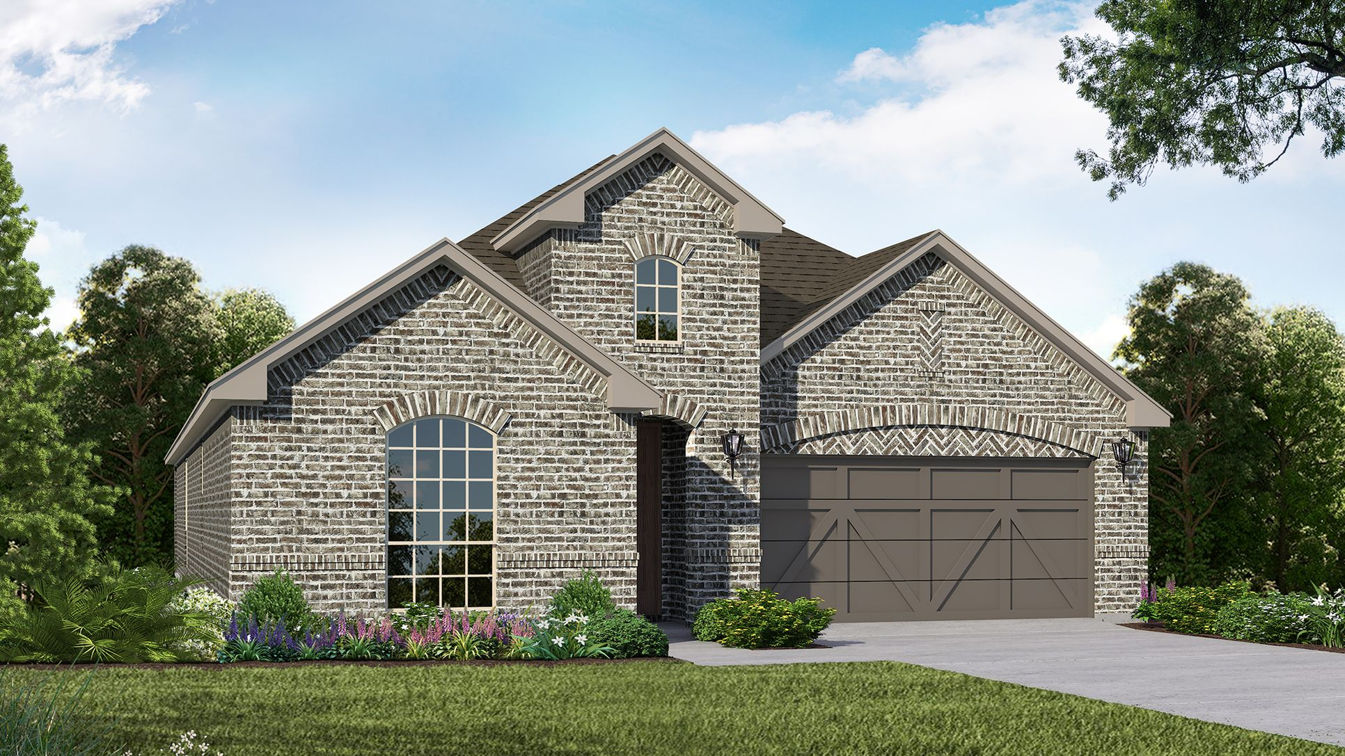 Exterior:Plan 1529 Elevation A by American Legend Homes
