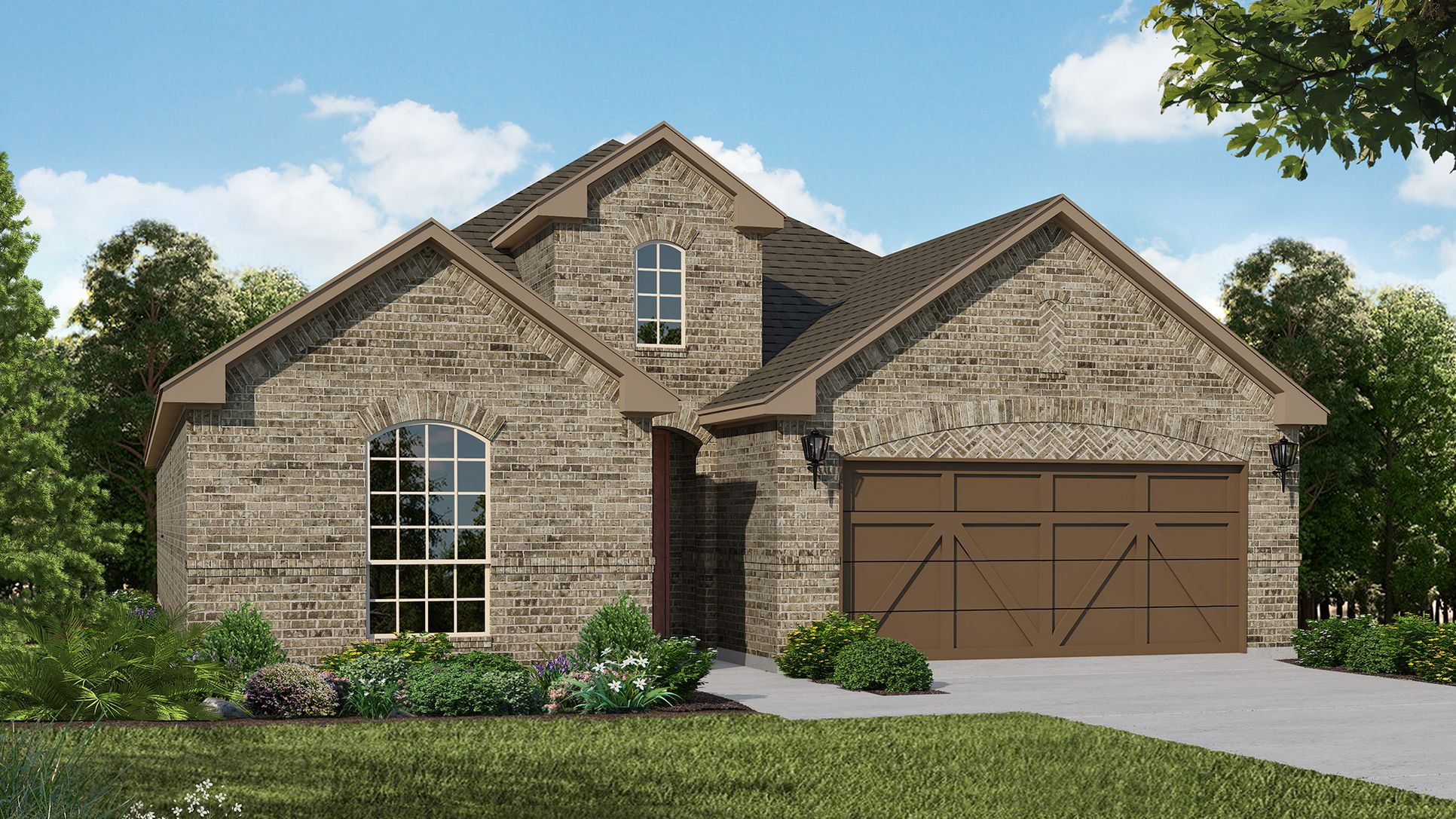 Exterior:Plan 1530 Elevation A by American Legend Homes