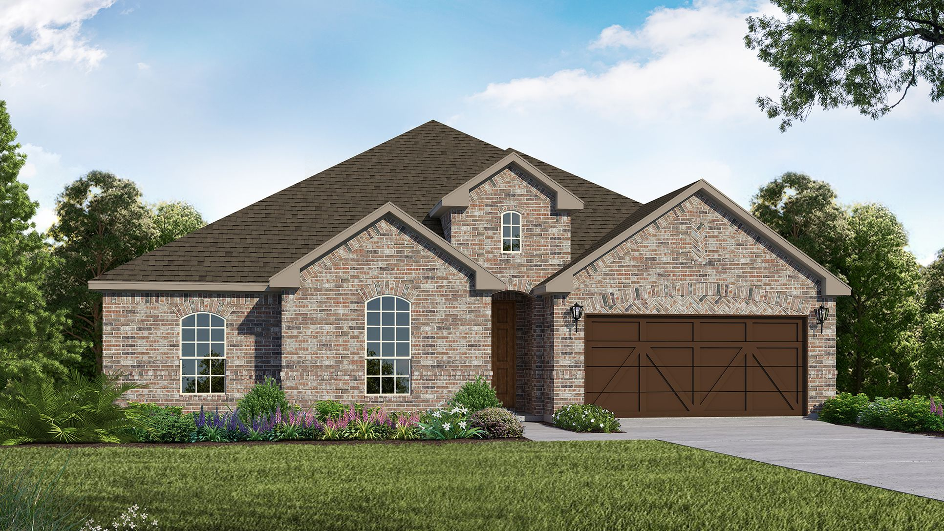Exterior:Plan 1681 Elevation A by American Legend Homes