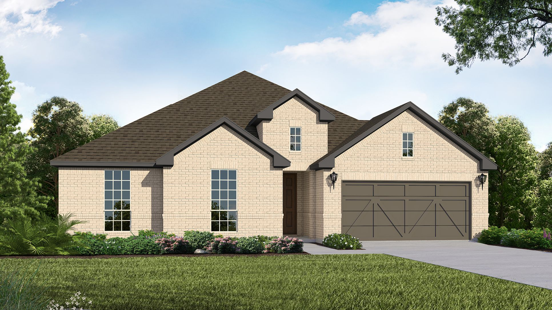 Exterior:Plan 1682 Elevation A by American Legend