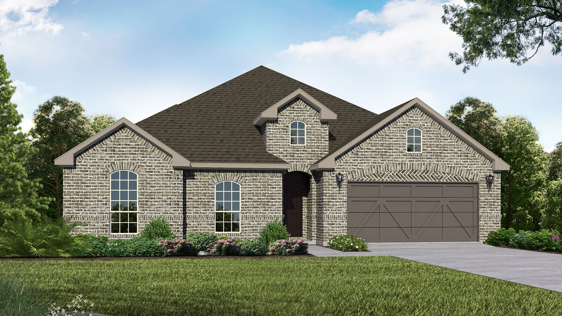 Exterior:Plan 1683 Elevation A by American Legend Homes