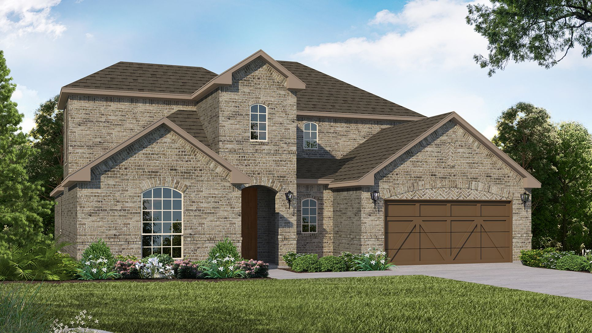 Exterior:Plan 1684 Elevation A by American Legend Homes