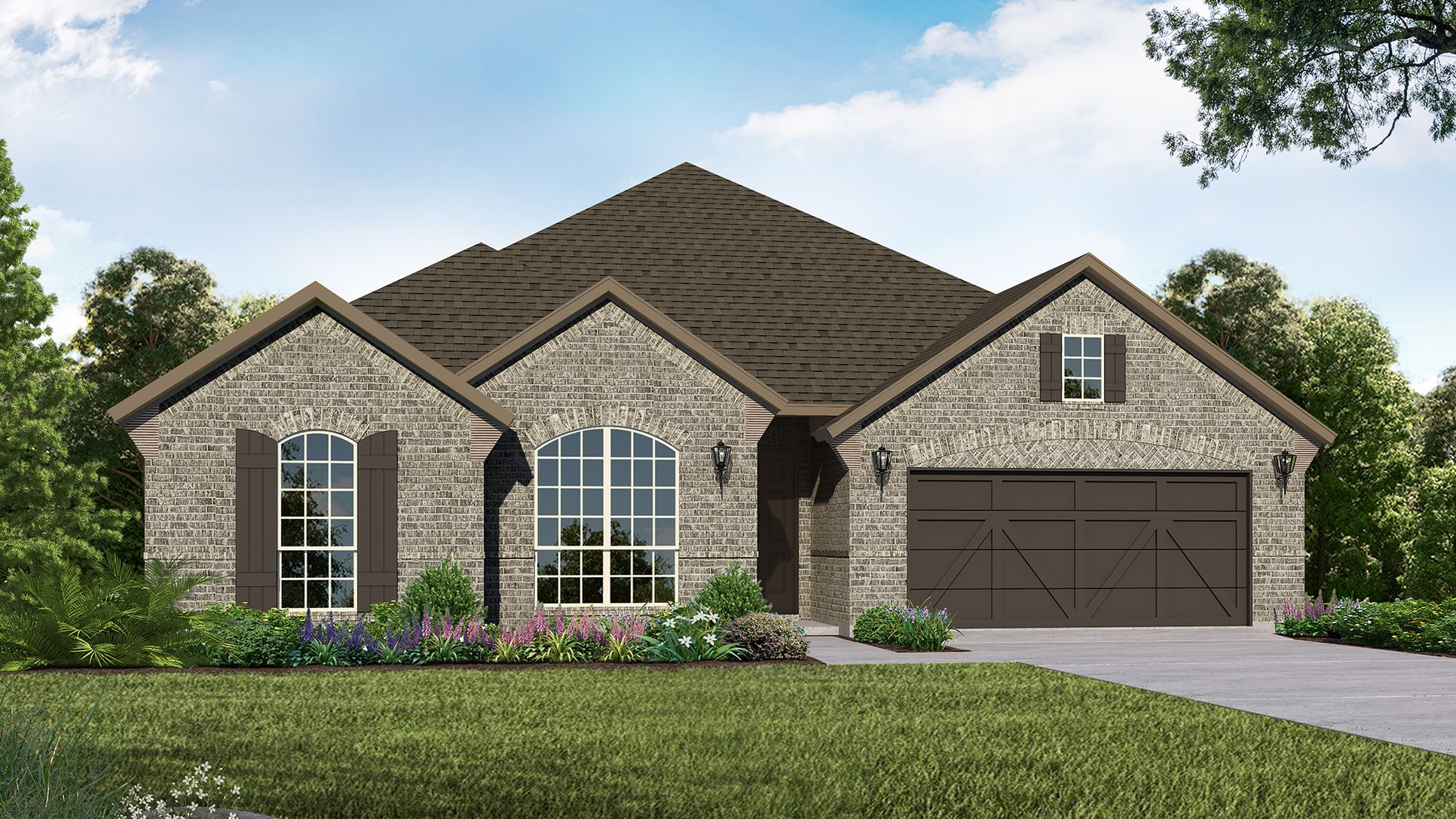Exterior:Plan 1685 Elevation A by American Legend Homes