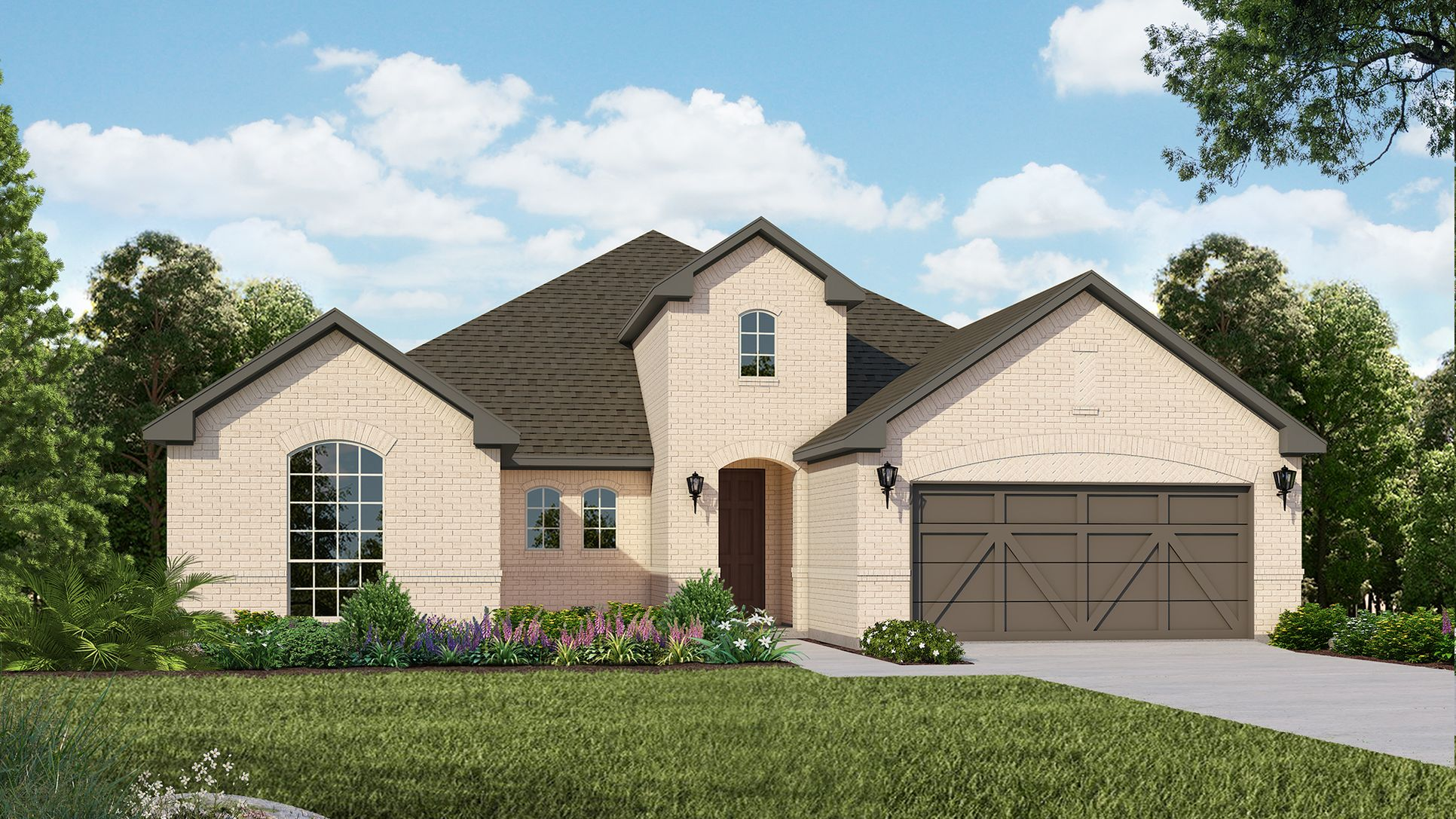 Exterior:Plan 1690 Elevation A by American Legend Homes