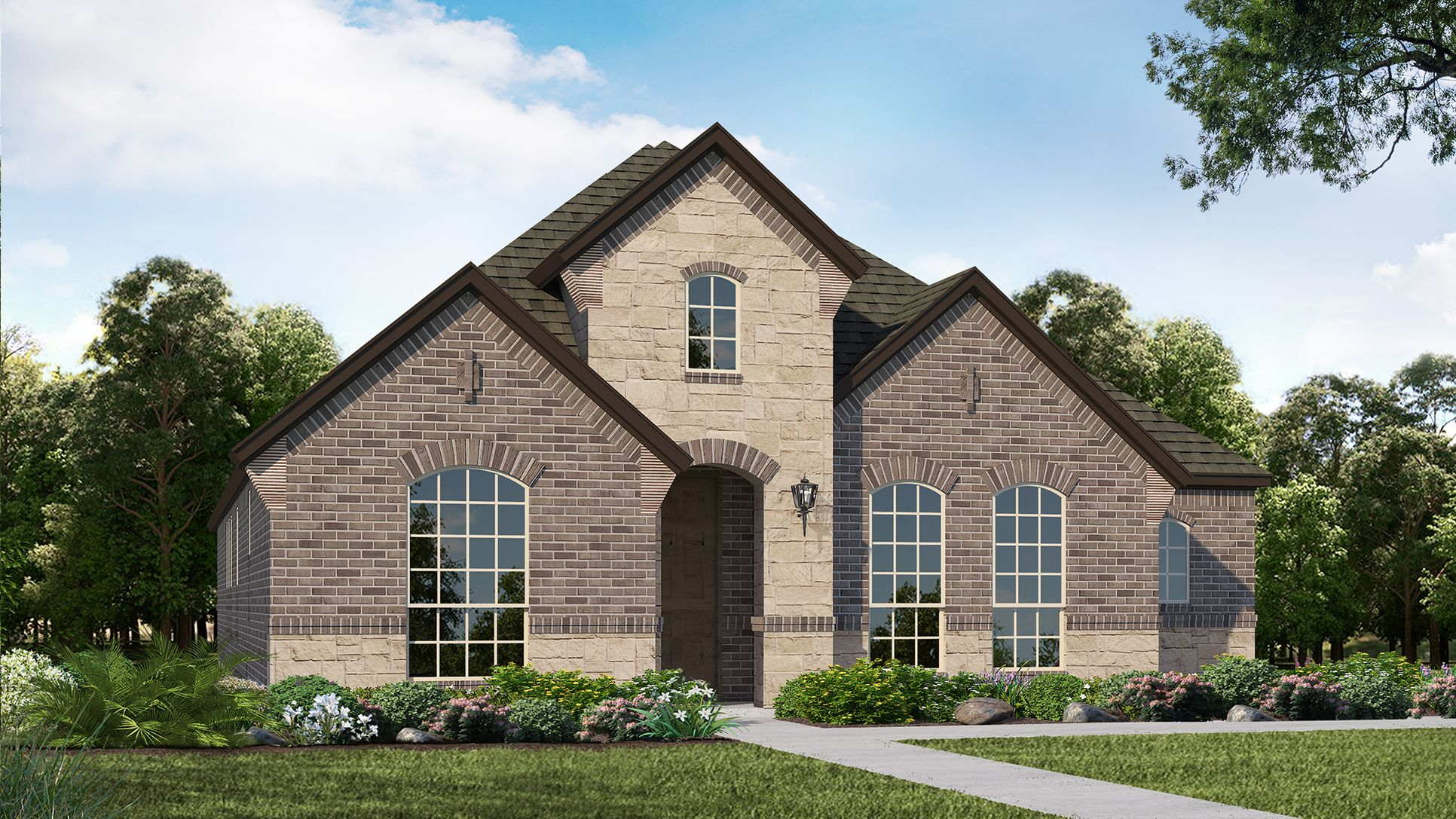 Exterior:Plan 1591 Elevation A by American Legend Homes
