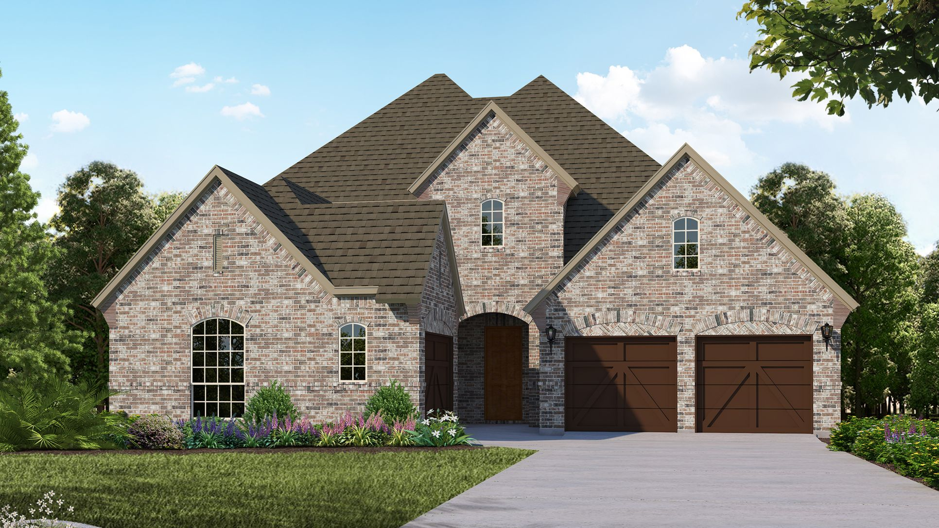 Exterior:Plan 610 Elevation A