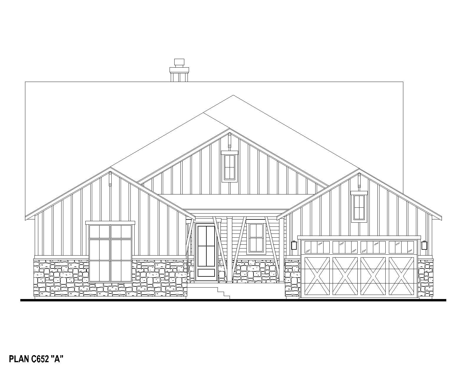 Exterior:Plan C652 Elevation A