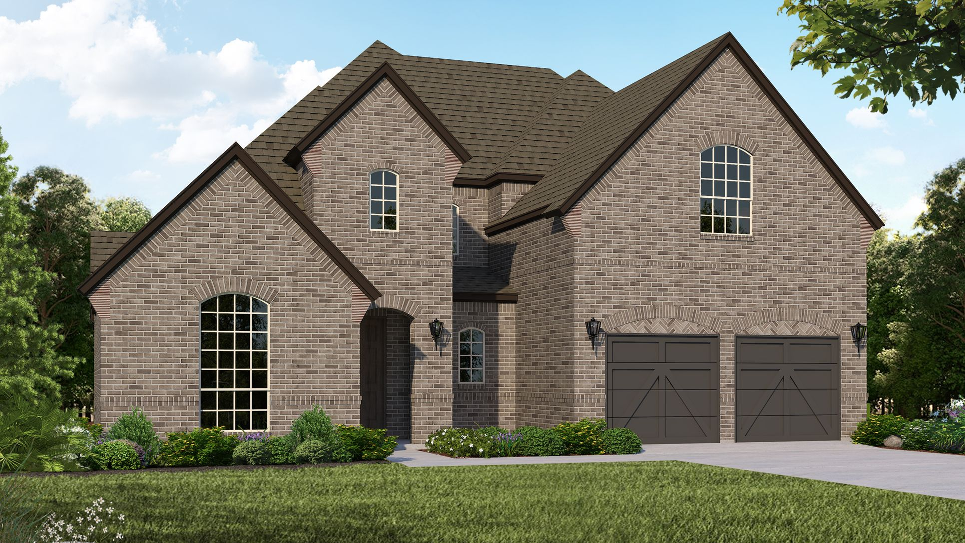 Exterior:Plan 1633 Elevation A