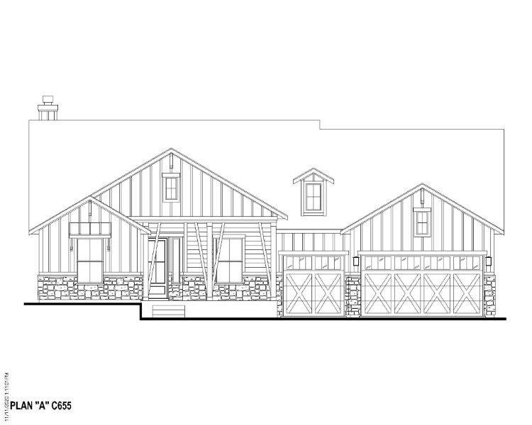 Exterior:Plan C655 Elevation A