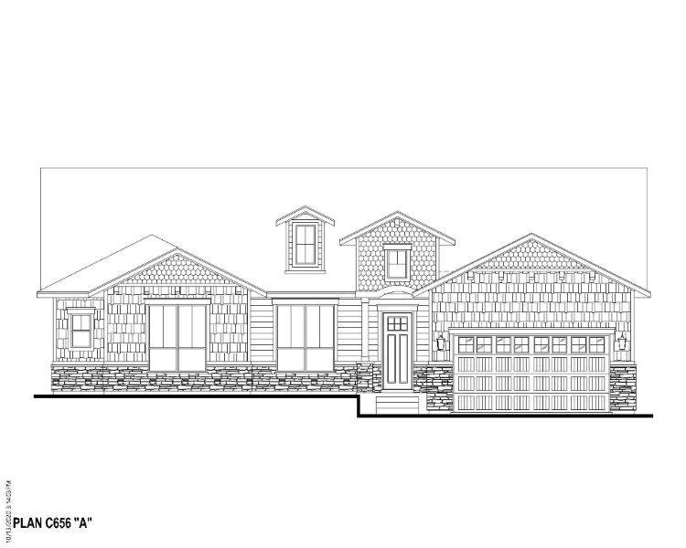 Exterior:Plan C656 Elevation A