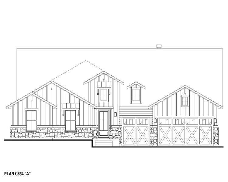 Exterior:Plan C654 Elevation A