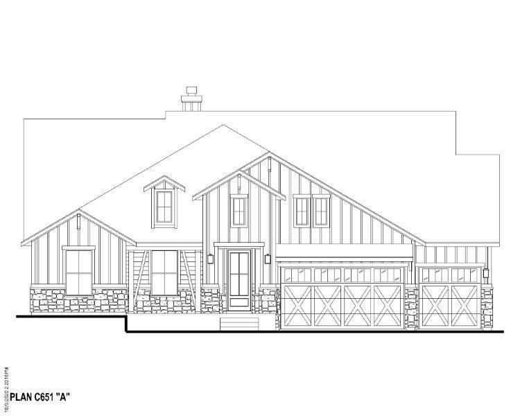 Exterior:Plan C651 Elevation A