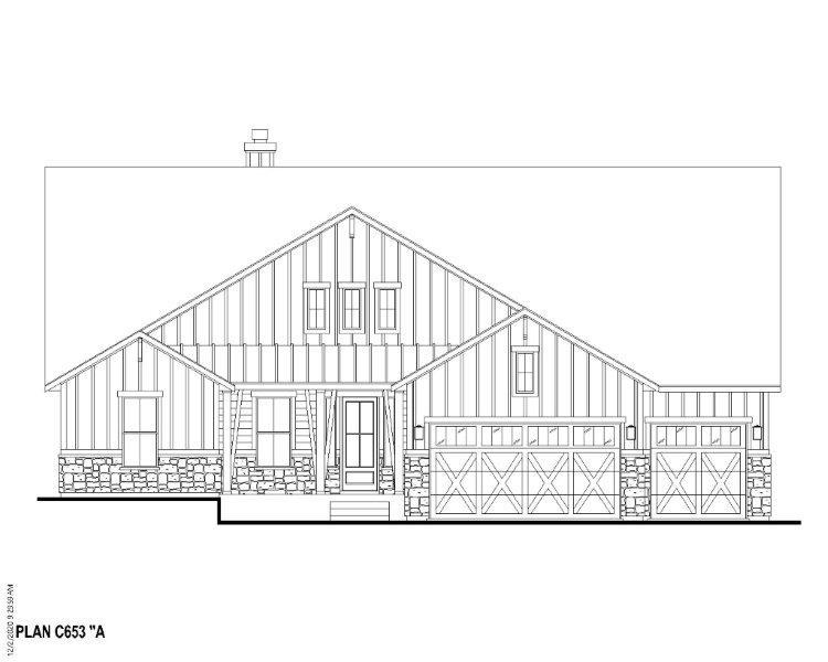 Exterior:Plan C653 Elevation A