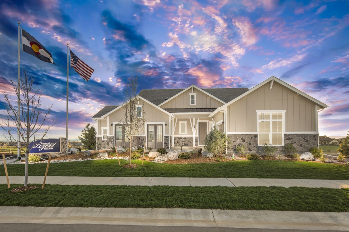 Plan C652 Front Elevation by American Legend Homes