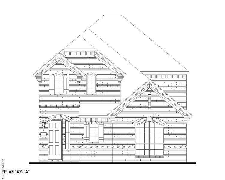 Exterior:Plan 1403 Elevation A
