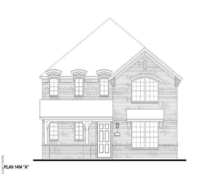 Exterior:Plan 1404 Elevation A