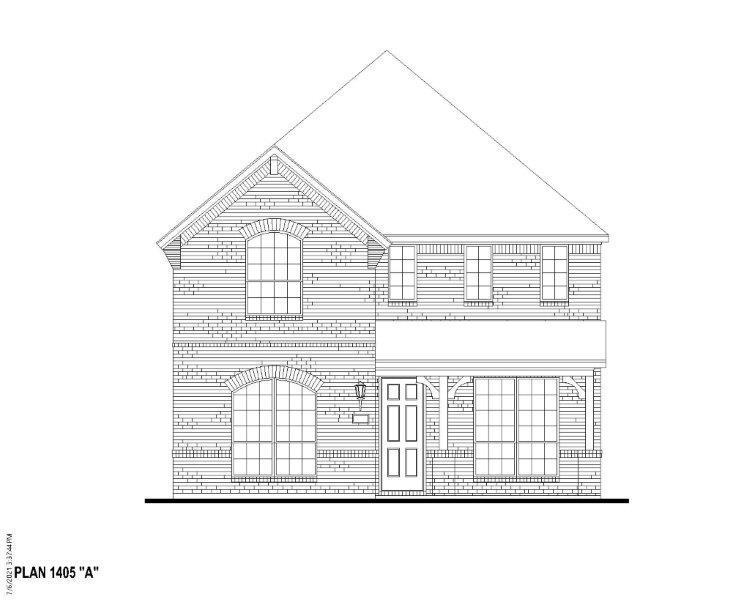 Exterior:Plan 1405 Elevation A