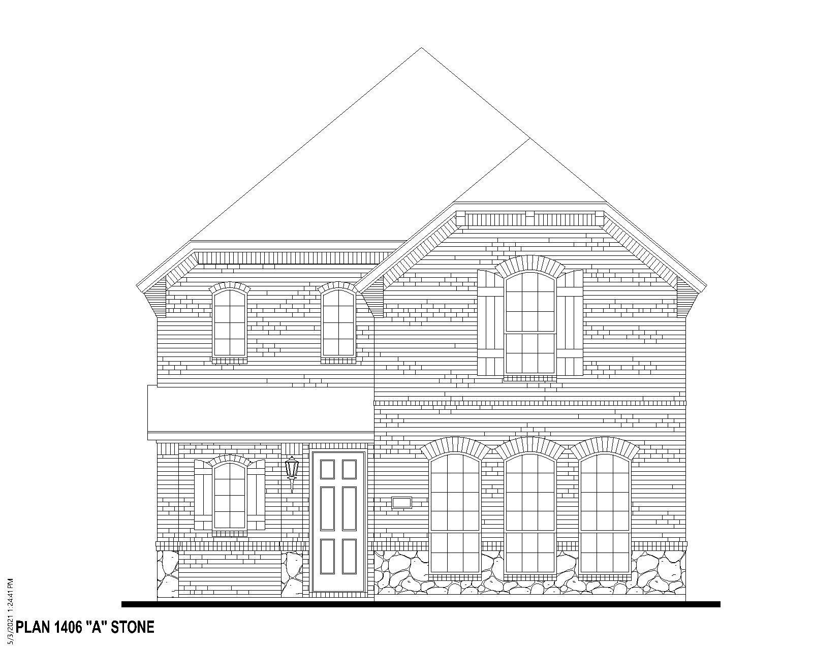 Exterior:Plan 1406 Elevation A