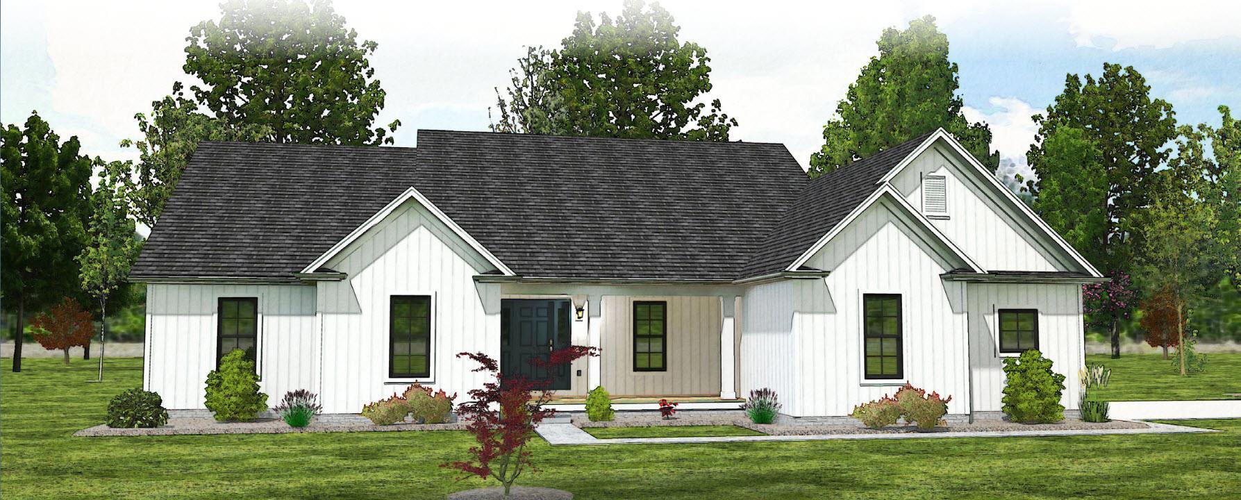 The Clark - Farmhouse:Elevation