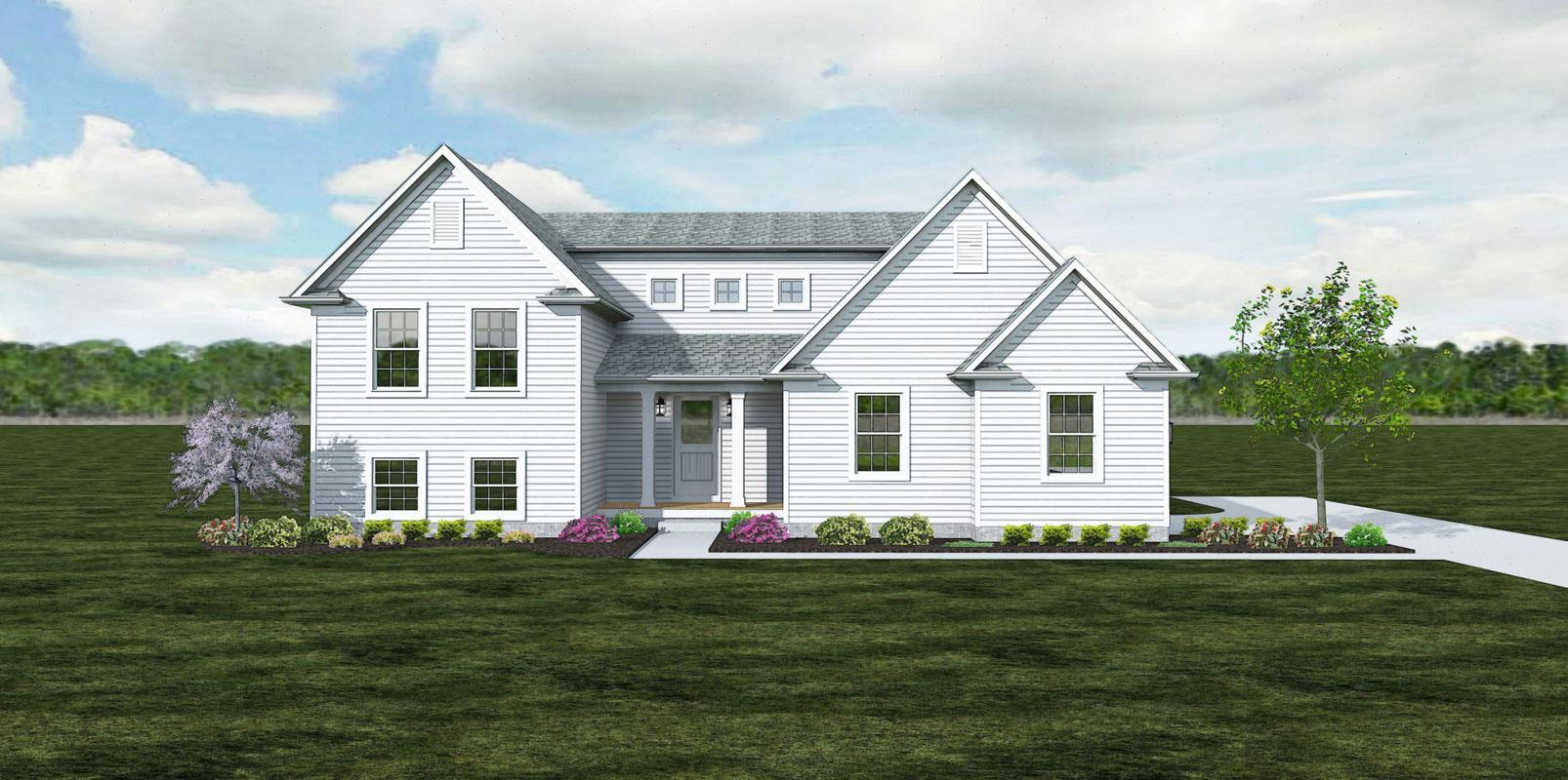 The Montgomery - Farmhouse :Elevation