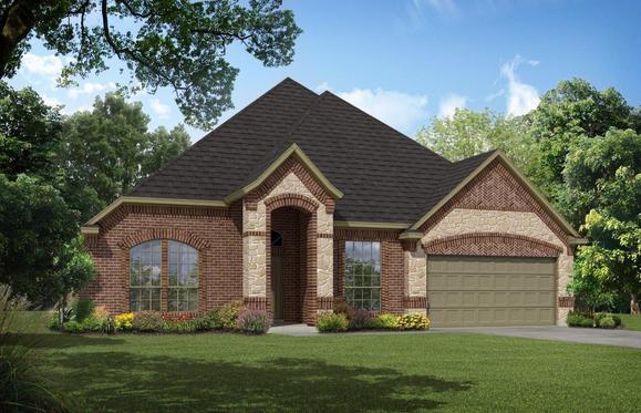 Exterior:Antares Homes Sig Series 2622 A-Stone