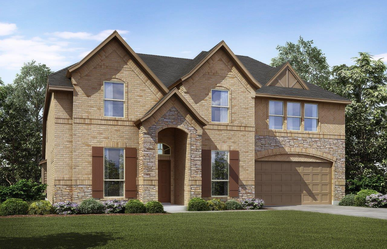 Exterior:Plan 3135 A with Stone