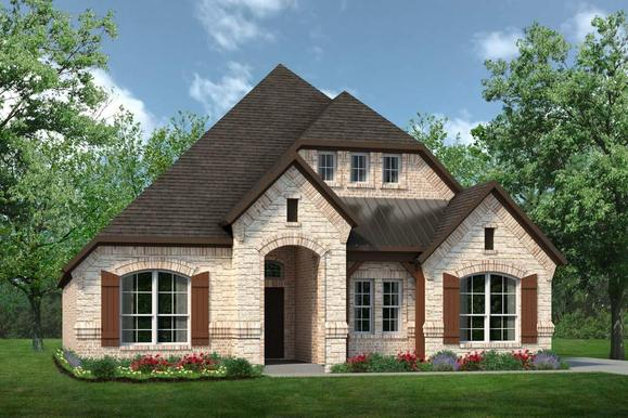 Exterior:2373 Elevation C with Stone