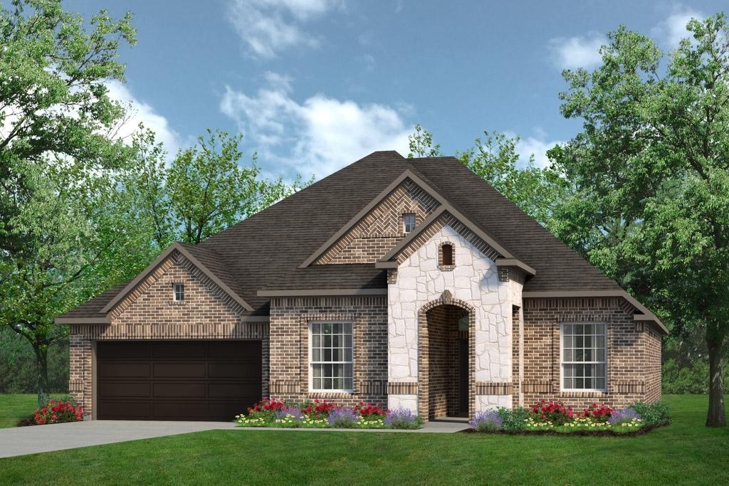 Exterior:Concept 2434 Elevation A With Stone