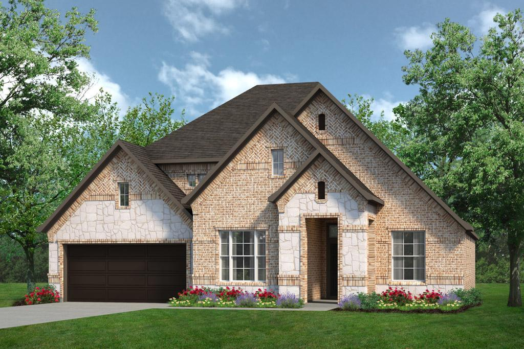 Exterior:Concept 2434 Elevation C With Stone