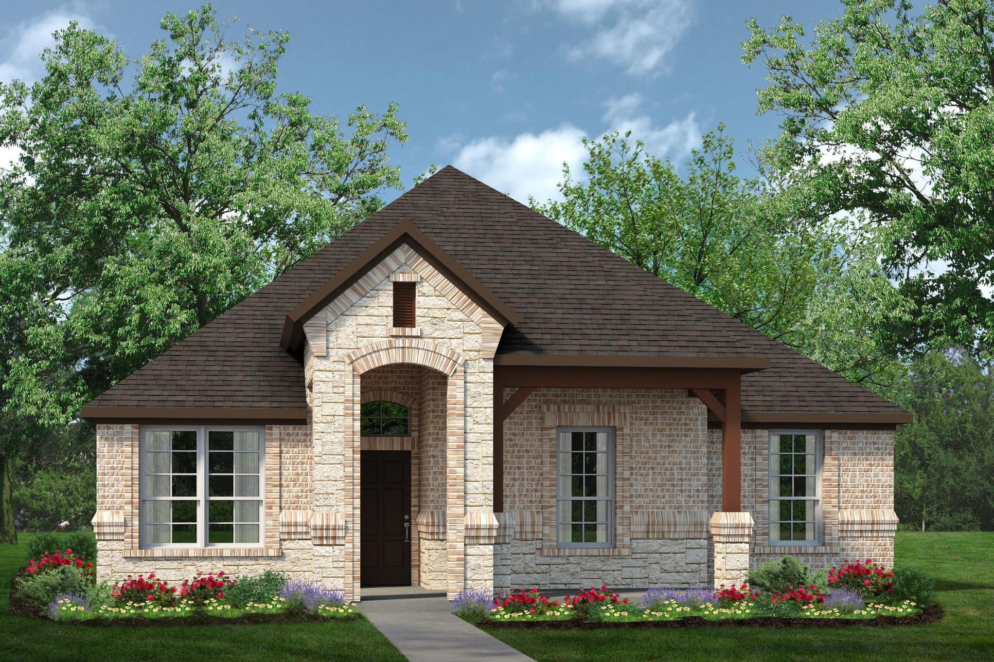 Exterior:2129 D with Stone