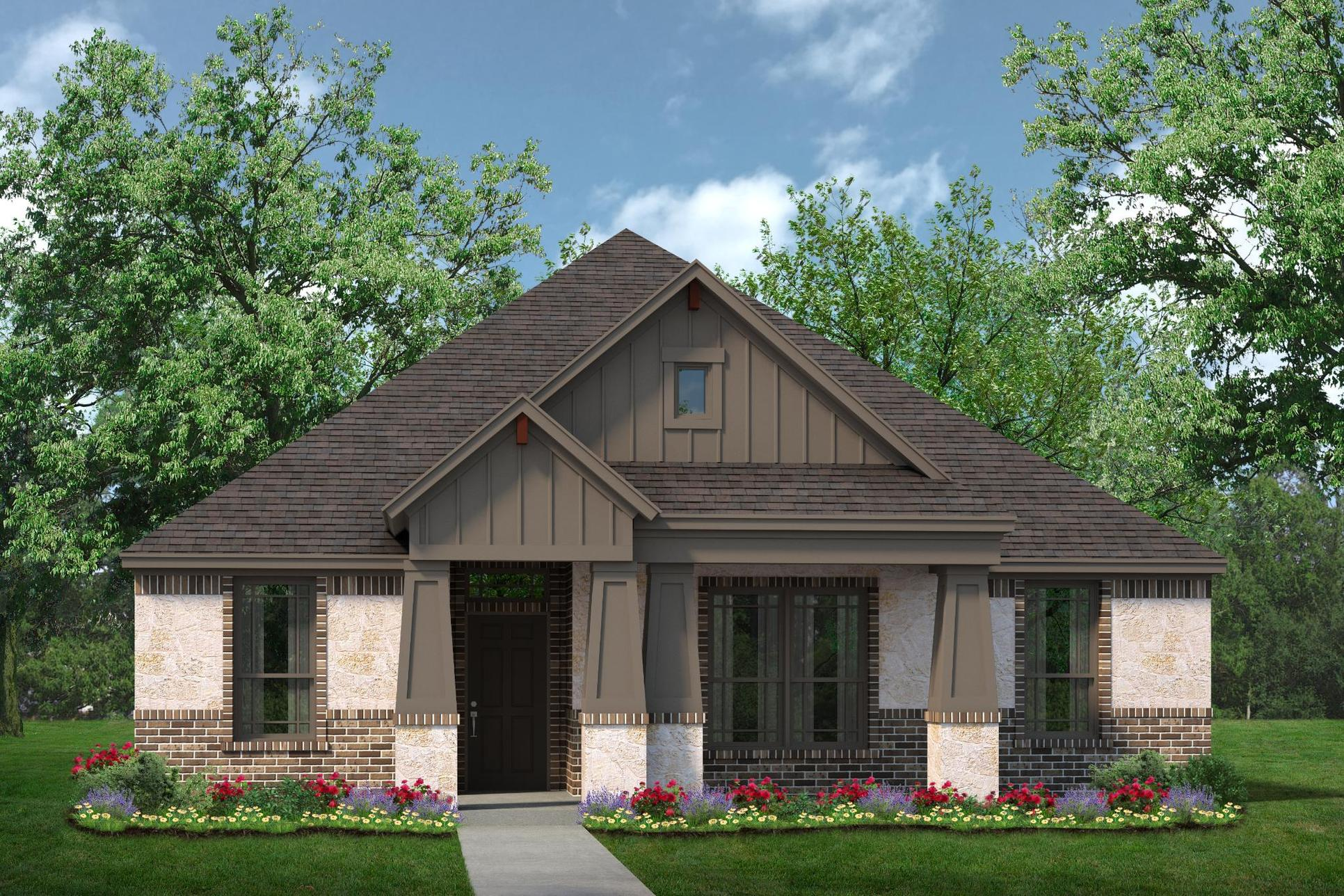 Exterior:2086 D with Stone