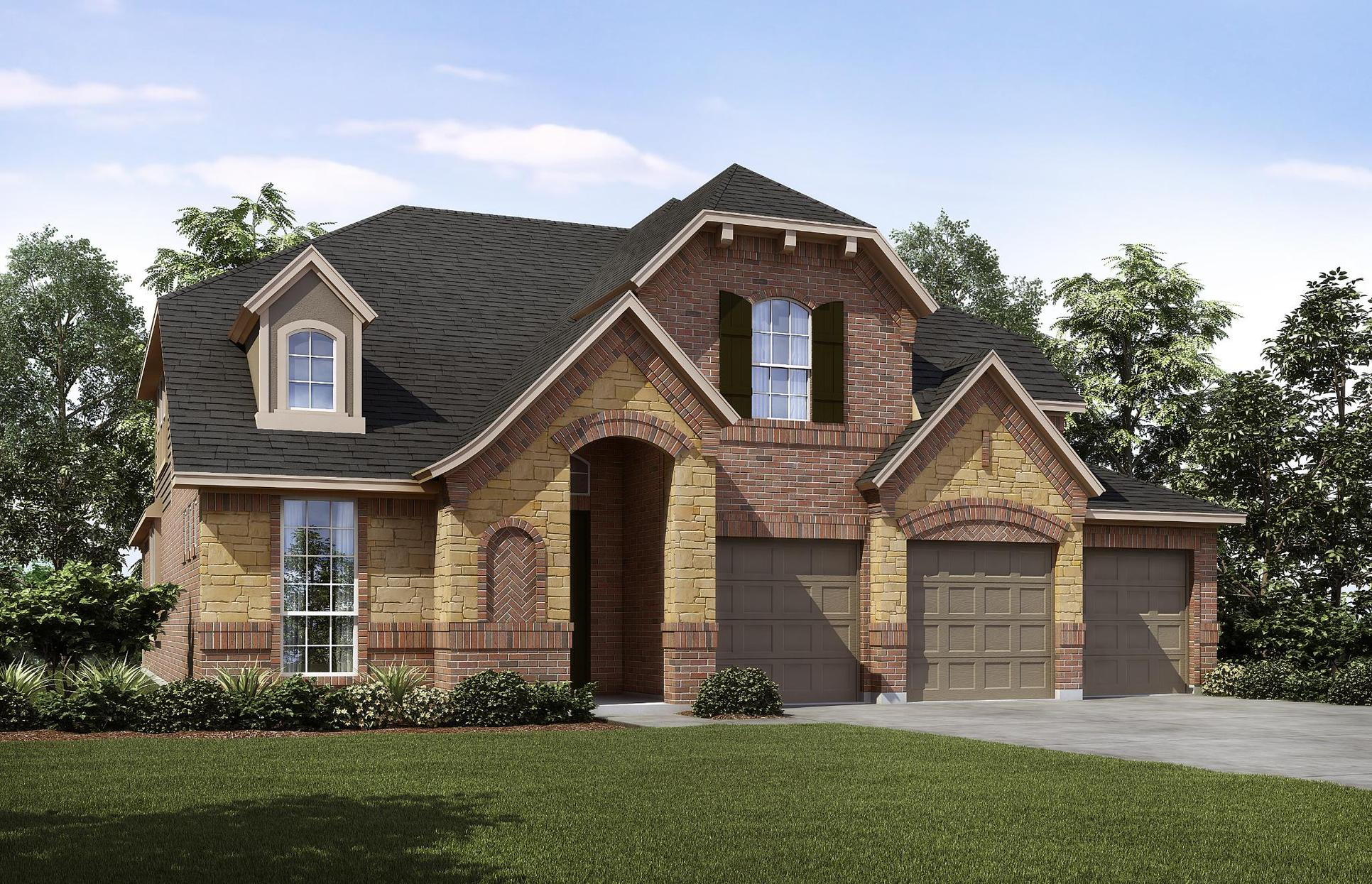 Exterior:3015 B with Stone
