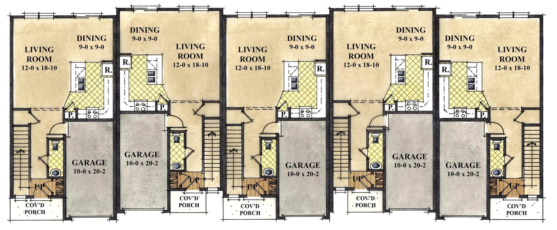 1st Floor Townhomes:1st Floor Townhomes
