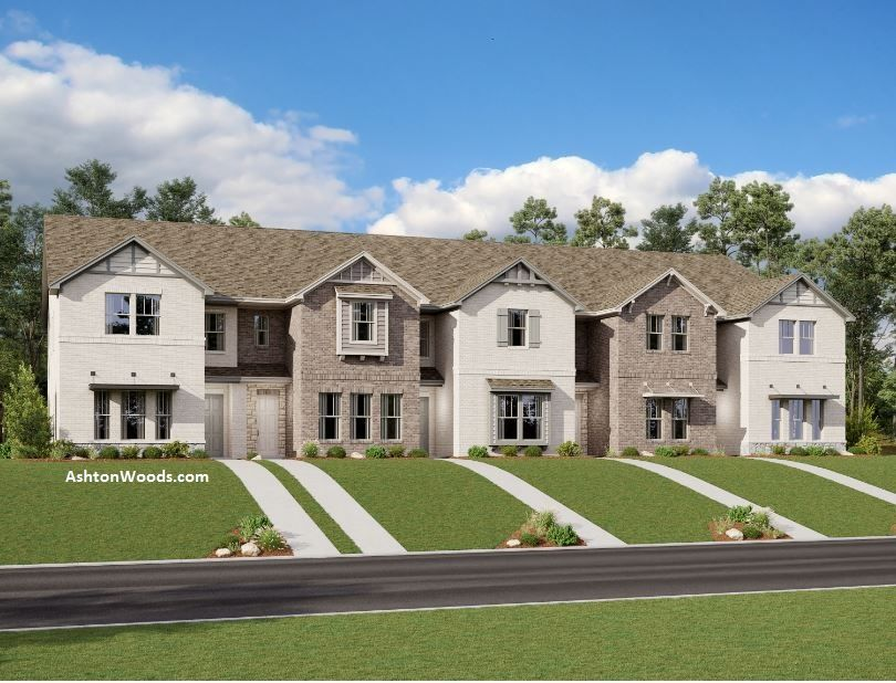 Exterior:Brown Townhome Design