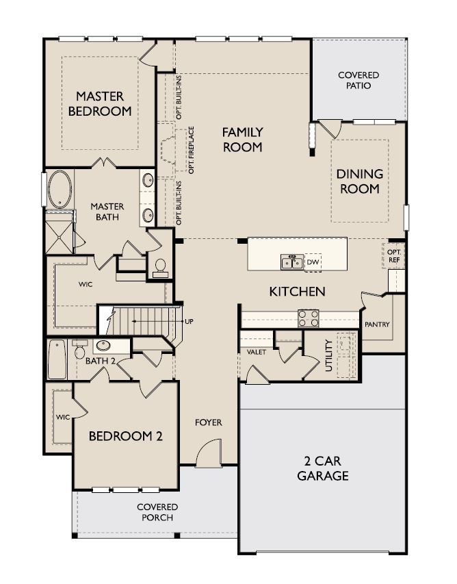 Floor Plan:Cooper First Floor