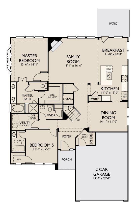 Floor Plan:Parker First Floor