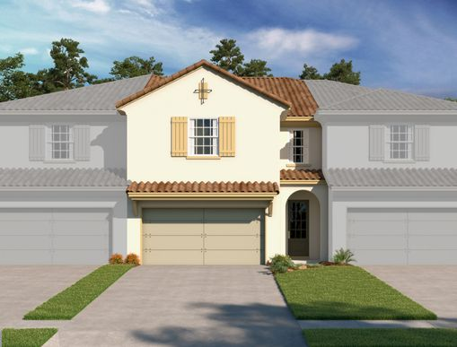 Exterior:Estates at Sweetwater Country Club Townhomes - Murano Elevation Image 1