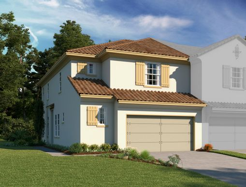 Exterior:Estates at Sweetwater Country Club Townhomes - Dario Elevation Image 1