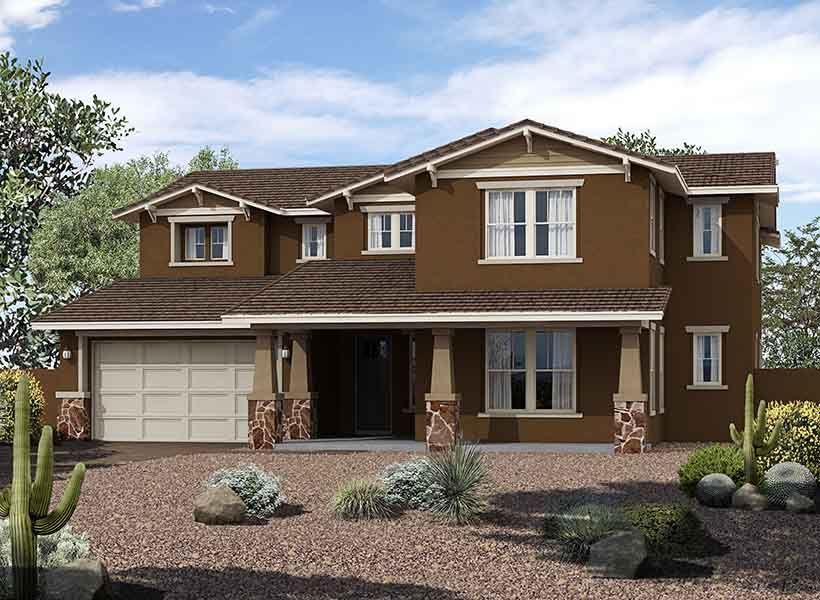 Exterior:Estates at Eastmark - Spruce Elevation Image 1