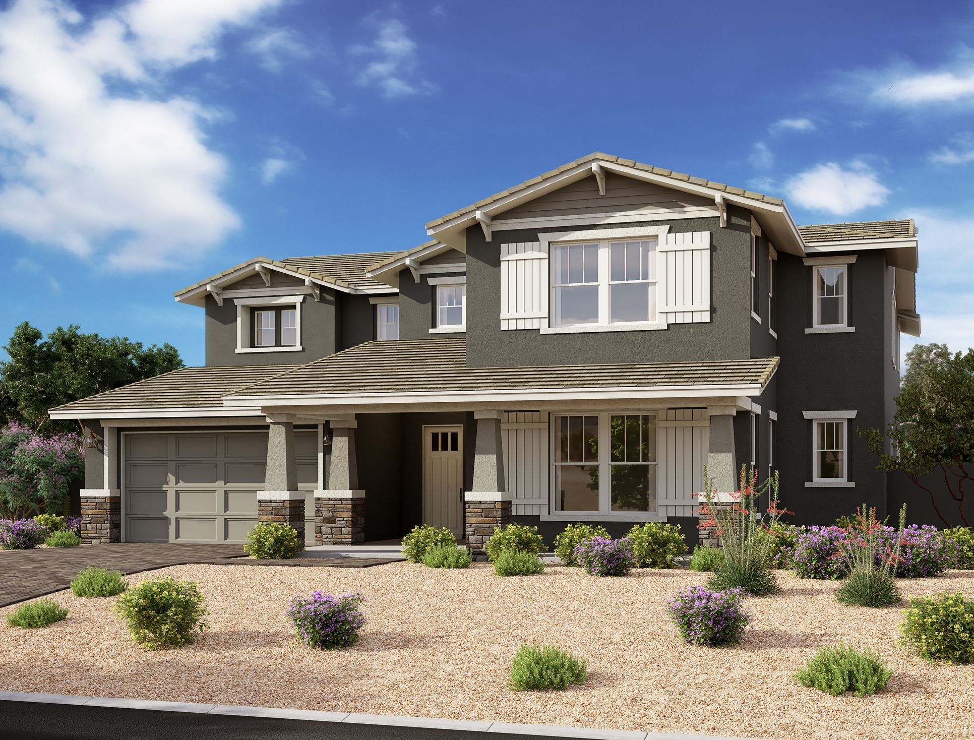 Exterior:Estates at Eastmark - Spruce Elevation Image 1